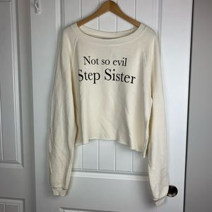 Wildfox Not so evil stepsister crop sweater